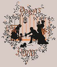 Cross stitch chart. La Famille - Family silhouette