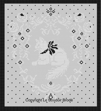 Cross stitch chart Download. Monsieur Chat - Mister cat