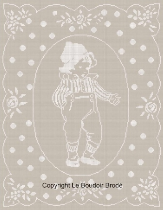 "Cross stitch chart download. Le petit Louis - The little boy ""Louis"""