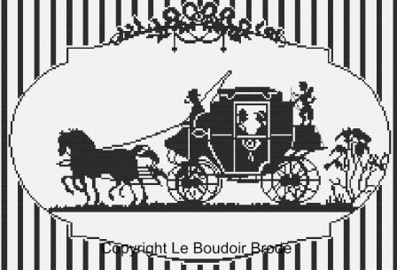 Cross stitch chart download. La Calèche - carriage