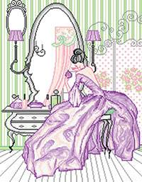 Cross stitch kit. Violette