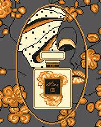 Cross stitch chart. Parfum Or